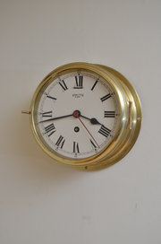 7 Brass Ships Clock by Smiths