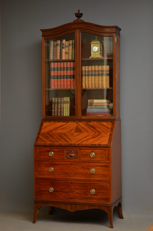 Edwardian Bureau Bookcase By Maples amp Co Antiques Atlas