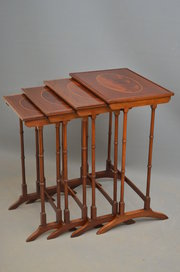 Edwardian Nest of 4 Tables