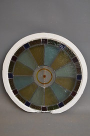 Pair of Circular Stained Glass