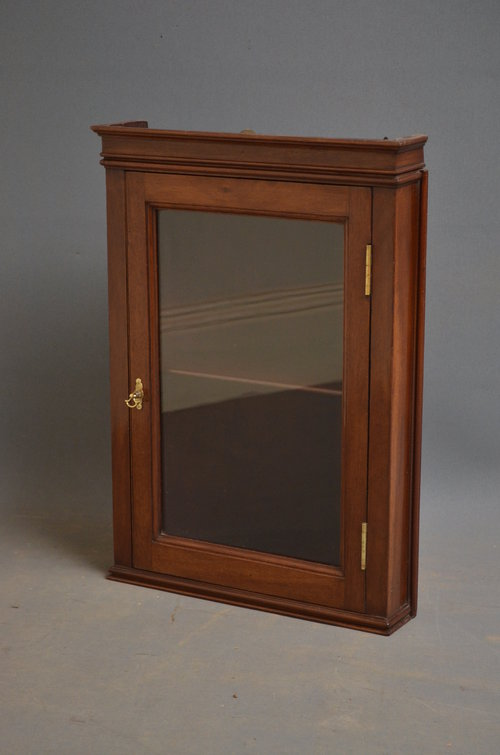 Small Wall Hanging Corner Display Cabinet Antiques Atlas