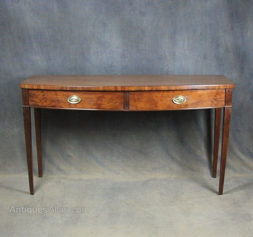 George III Bow Front Serving Table