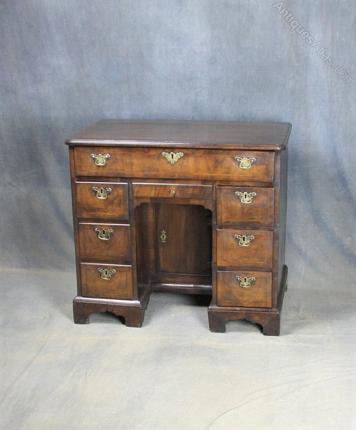 George I Walnut Kneehole Desk