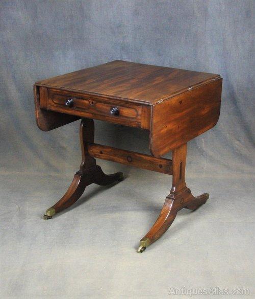 Georgian Mahogany Sofa / Occasional Table