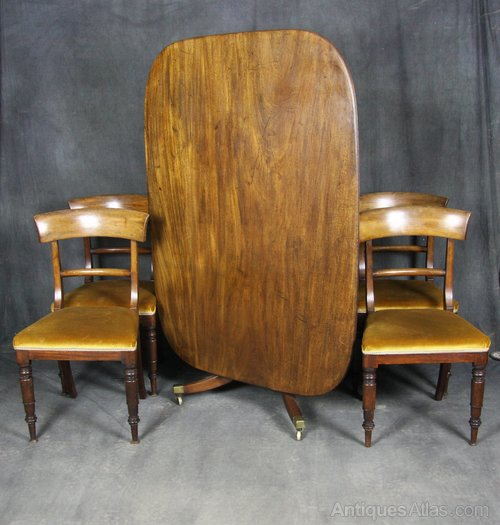 Regency Mahogany Dining Table and Chairs