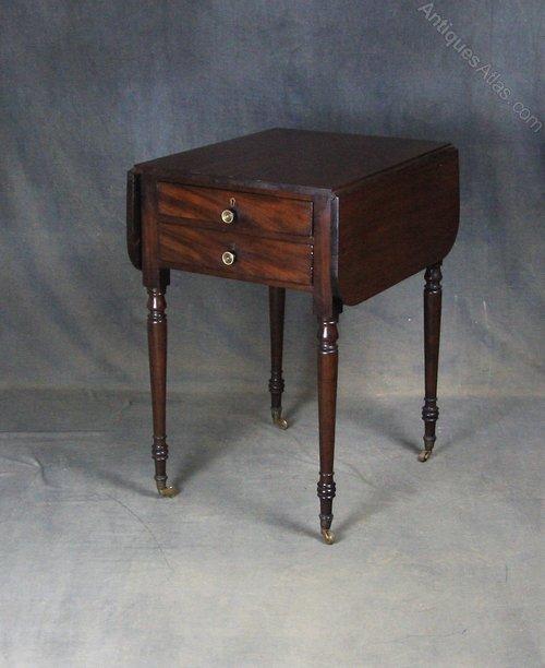 Regency Mahogany Pembroke Work / Writing Table