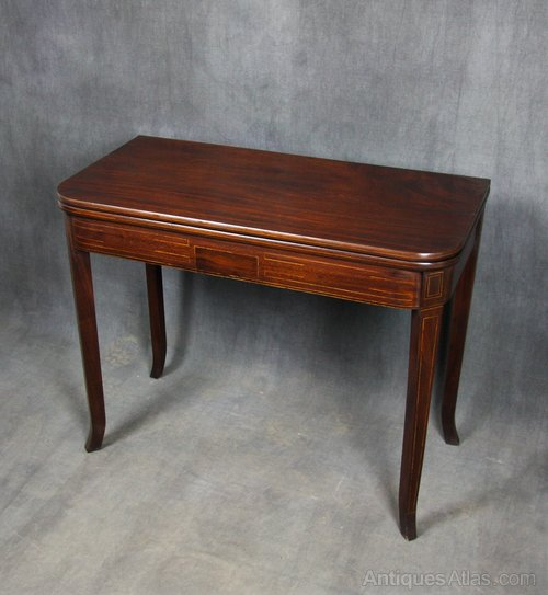 Regency Mahogany Tea Table