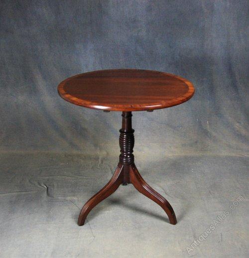 Regency Mahogany Tilt Top Occasional Table