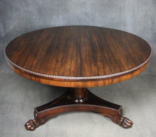 Regency Rosewood Breakfast / Dining Table