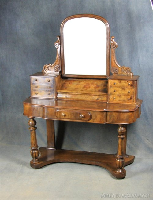 Victorian Burr Walnut Dressing Table