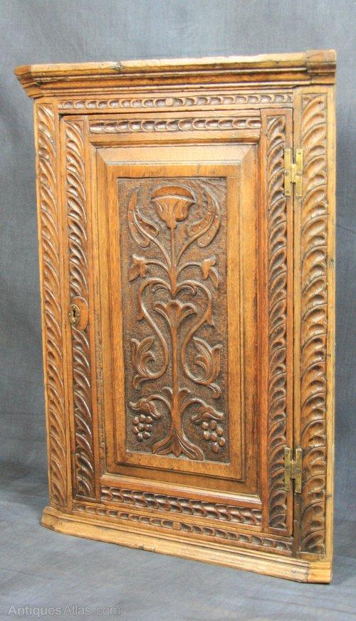 Victorian Oak Corner Cupboard