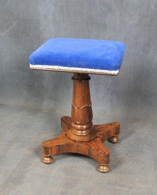 Victorian rosewood piano stool