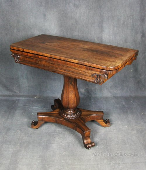 William IV Rosewood Card Table