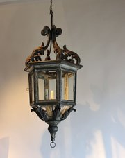Antique Lantern with silver le