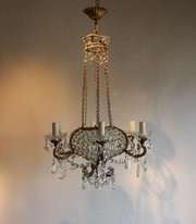Antique chandelier with beaded