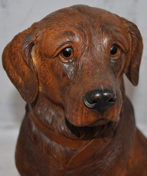 Black forest wood carvings carved bears dogs item pictures
