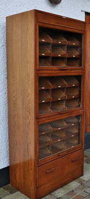 vintage oak glass fronted haberdashery cabinet antiques atlas