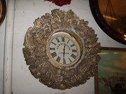 Hand Carved Stone Clock Surrou