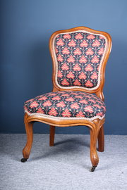 Victorian Walnut Upholstered N