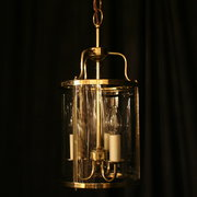 An English Brass Triple Light