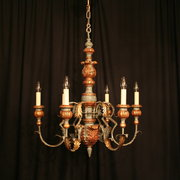 An Italian Polychrome 6 Light