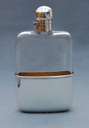 Edwardian Silver Hip Flask