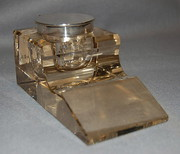 Silver mounted glass inkwell 1