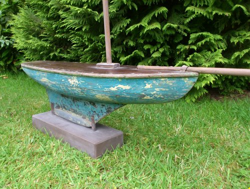 Antiques atlas blue painted pond yacht for Pond dealers