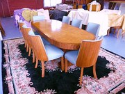 Art Deco Sycamore  Dining  Suite 1930s