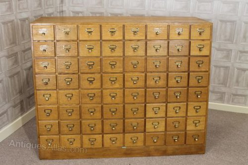 1930s Wine Rack Card Index Holder 64 Drawers
