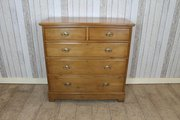 Edwardian satin walnut chest o