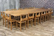 Large Reclaimed Pine Table Wit