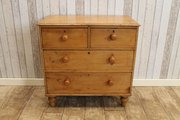 Late Victorian Pine Chest Of D