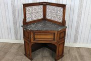 Maple  Co corner wash stand  q