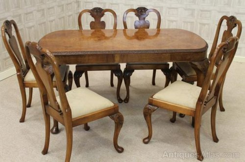 Queen Anne Style Dining Suite Table And Chairs Antiques Atlas