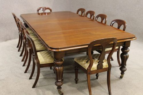 Victorian Dining Table With Matching Chairs