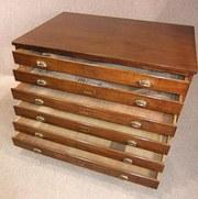 antique plan chest