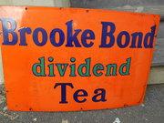 Vintage Brooke Bond Tea Enamel
