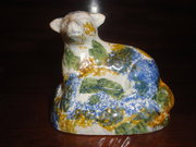 Prattware pottery sheep