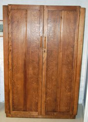Arts  Crafts Oak Wardrobe