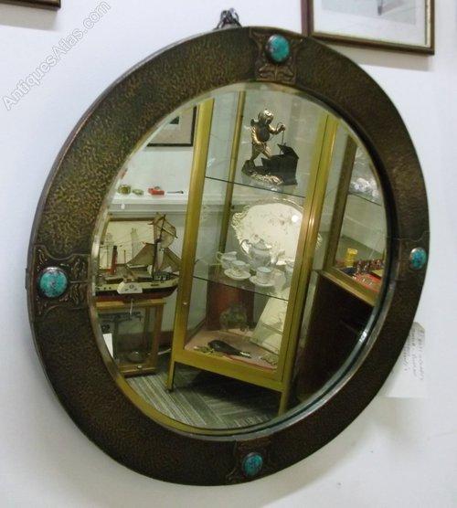 Antiques atlas arts and crafts copper mirror
