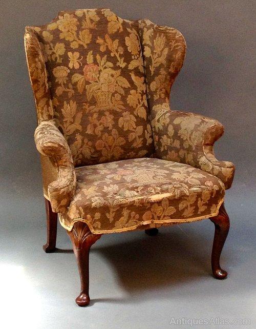 18thc Style Walnut Wing Armchair Antiques Atlas