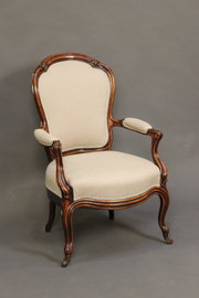 19thc Walnut Armchair