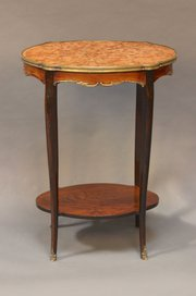 19thc Walnut Marble Topped Occ