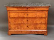 French Honey Elm Commode Chest