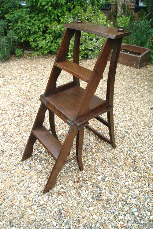 French Metamorphic Library Step Chair Antiques Atlas