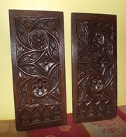 Pair 15th Century Gothic Carve