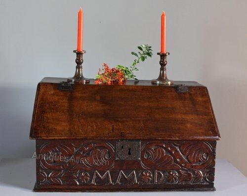 17th Century Oak Bible Box. T755