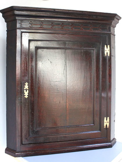 18th Oak Corner Cupboard.