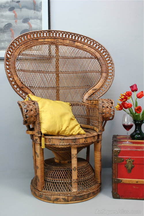 1960u0027s Rattan Peacock Chair